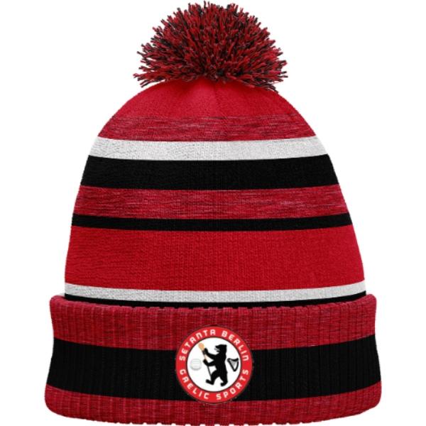 Picture of Setanta Berlin Bobble Hat Red Melange-Black-White