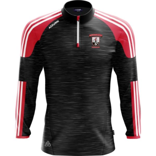 Picture of Abbeyside AFC Brooklyn Half Zip Black Melange-Red-White