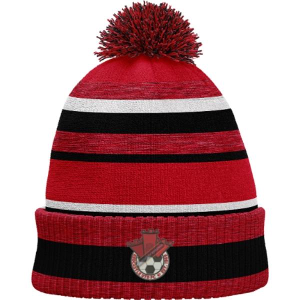 Picture of Redcastle FC Bobble Hat Red Melange-Black-White