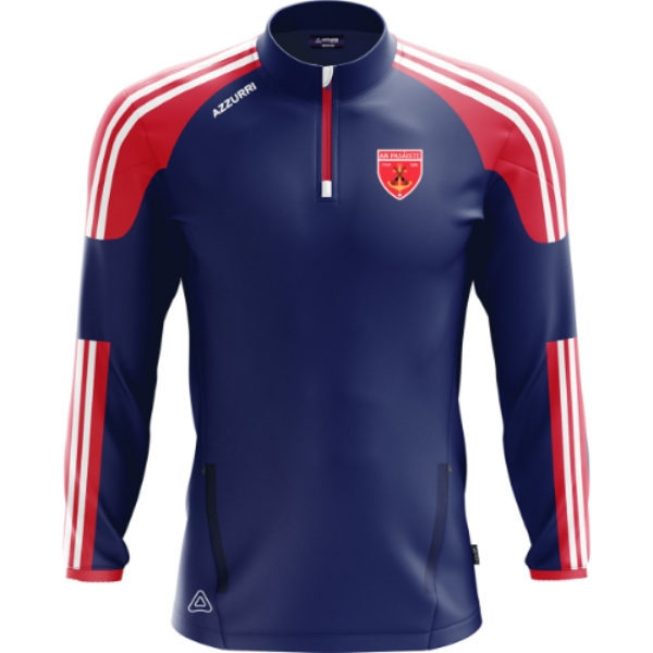 Picture of Passage East GAA Brooklyn Half Zip Navy-Red-White