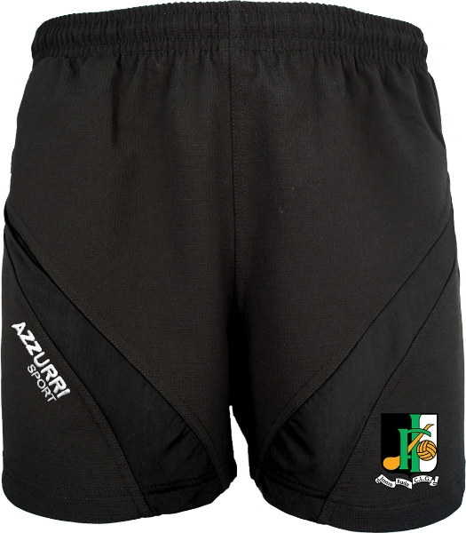 Picture of Innisfail GAA Gym Shorts Black-Black