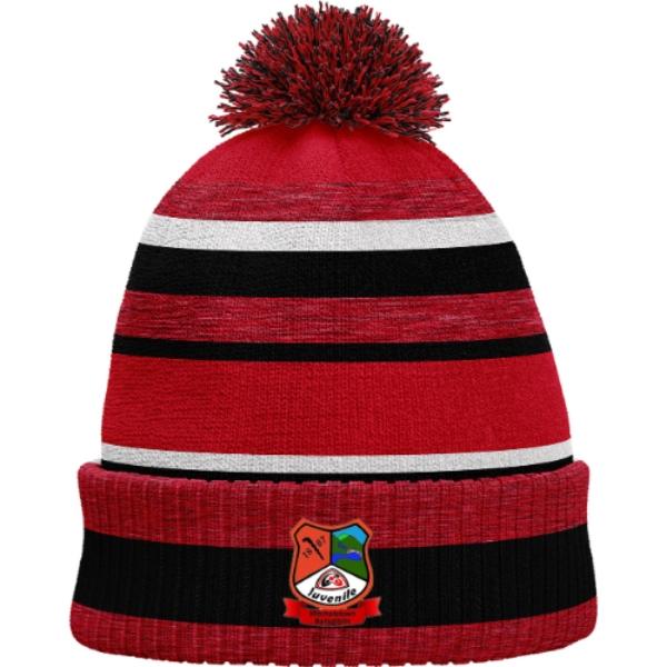 Picture of Mitchelstown Ballygiblin Juvenile GAA Bobble Hat Red Melange-Black-White