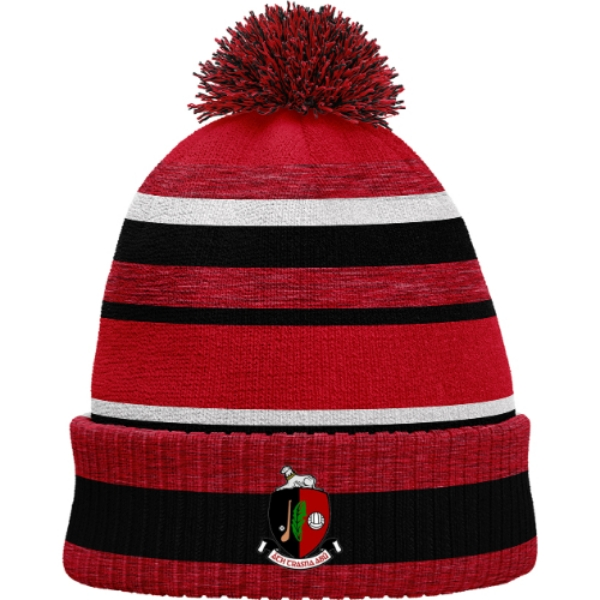 Picture of Newmarket GAA Bobble Hat Red Melange-Black-White