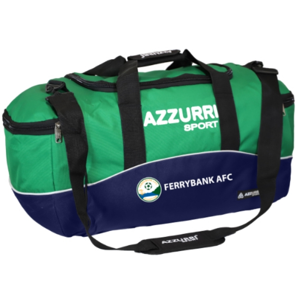 Picture of Ferrybank AFC Kit Bag Navy-Emerald-White