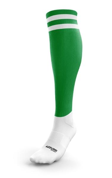 Picture of Ballyhale Shamrocks Camogie 2 Stripe Full Socks Emerald-White