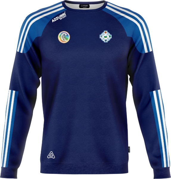 Picture of Tramore Camogie Brooklyn Crew Neck Navy-Royal-White