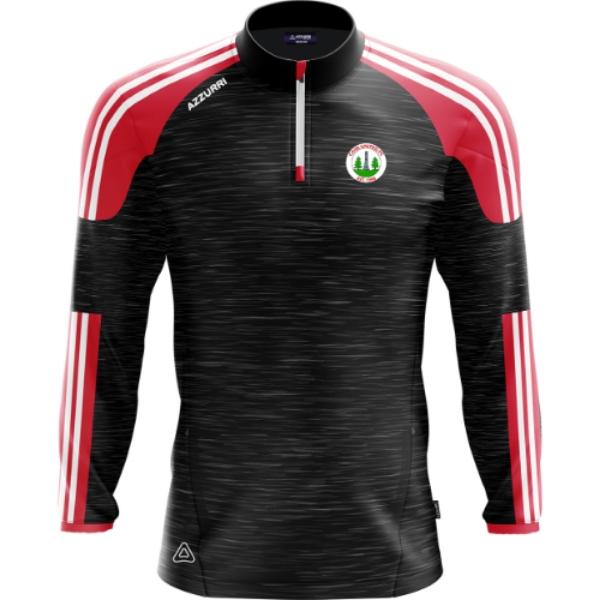 Picture of Caim United FC Brooklyn Half Zip Black Melange-Red-White