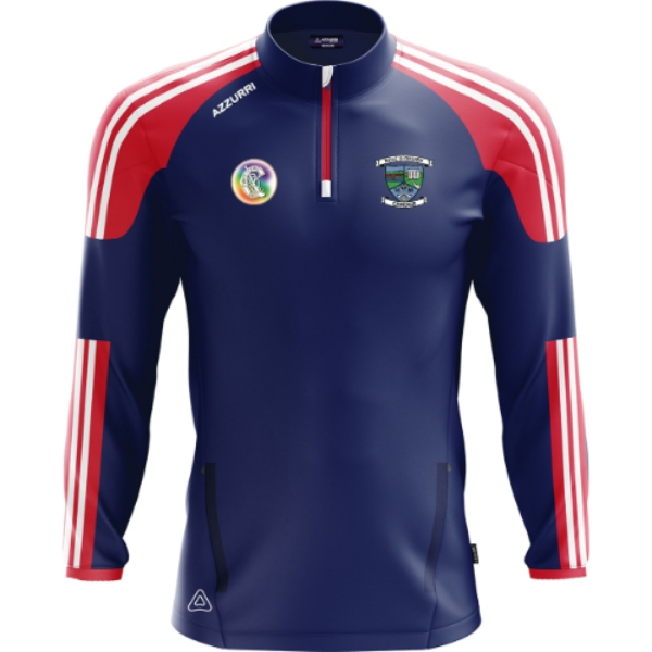 Picture of Ballyduff Upper Camogie Brooklyn Half Zip Navy-Red-White
