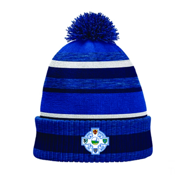 Picture of Tramore Camogie Bobble Hat Royal Melange-Navy-White