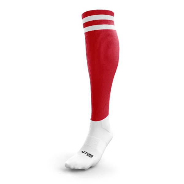 Picture of Courcey Rovers 2 Stripe Full Socks Red-White