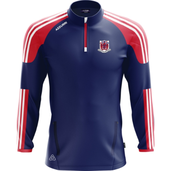 Picture of Courcey Rovers Brooklyn Half Zip Navy-Red-White