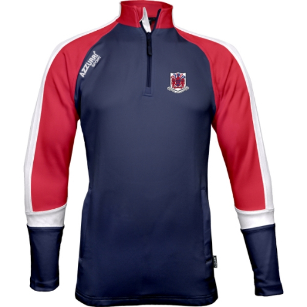 Picture of Courcey Rovers Bandon Half Zip Navy-Red-White