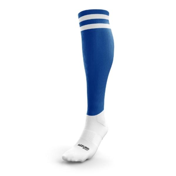 Picture of Ballinhassig LGFA 2 Stripe Full Socks Royal-White