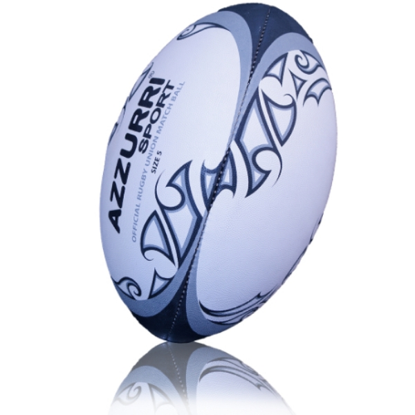 Picture of Carrick RFC Rugby Match Ball White-Grey-Black