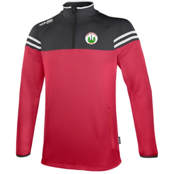 Picture of Caim United FC Skryne Half Zip Red-Black-White