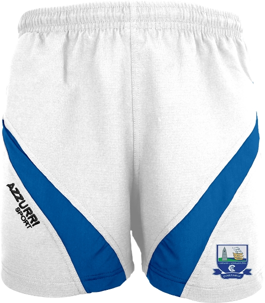 Picture of Waterford Camogie Gym Shorts White-Royal