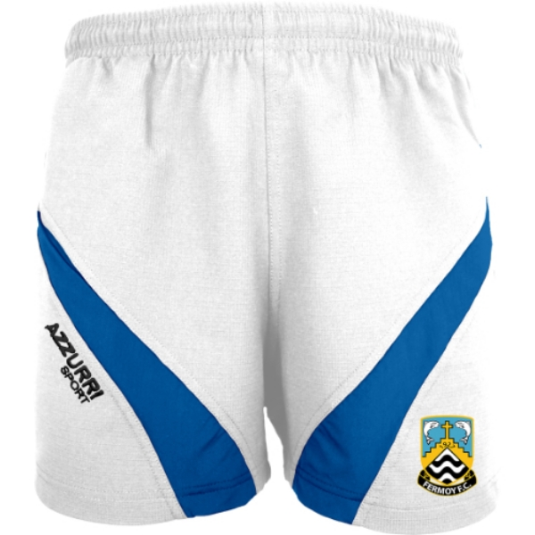 Picture of Fermoy FC Gym Shorts White-Royal