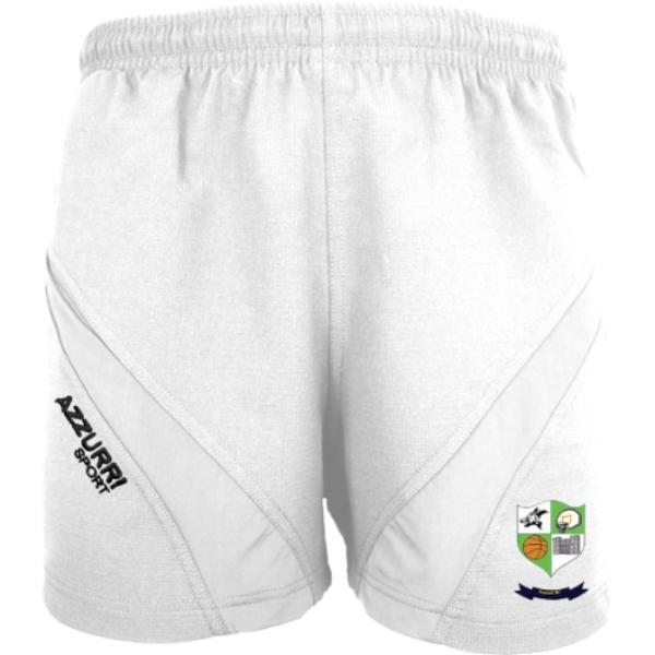 Picture of Kanturk Basketball Gym Shorts White-White