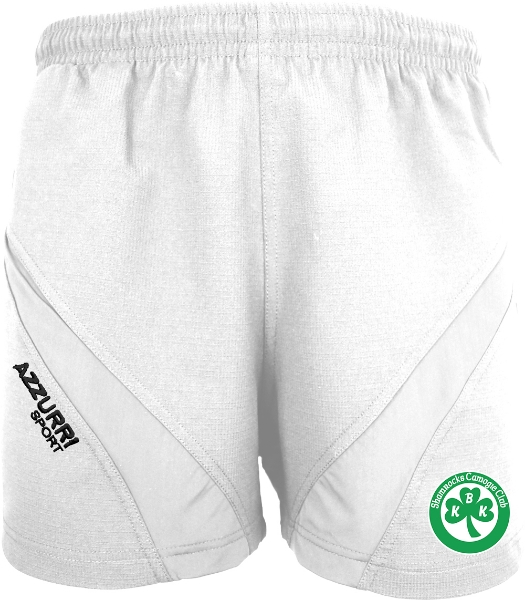 Picture of Ballyhale Shamrocks Camogie Gym Shorts White-White