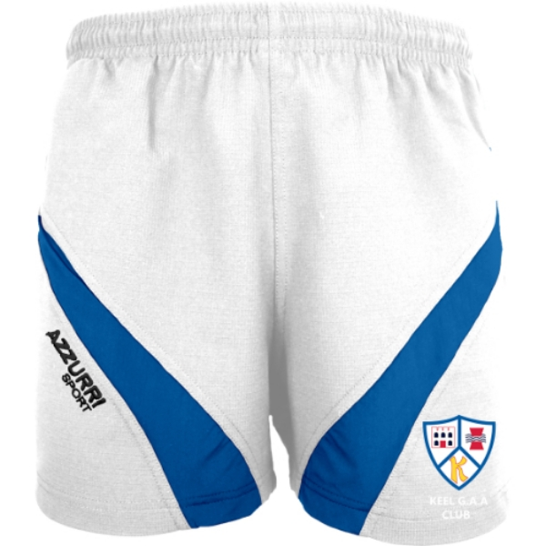 Picture of Keel GAA Gym Shorts White-Royal