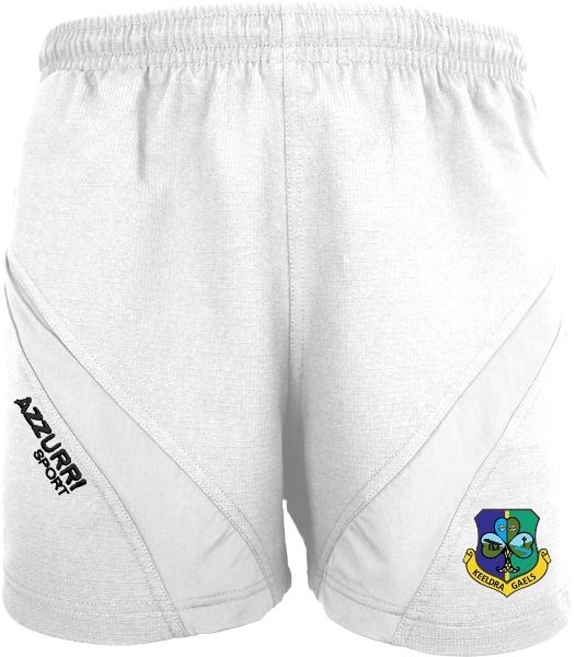 Picture of Keeldra Gaels Training Shorts White-White