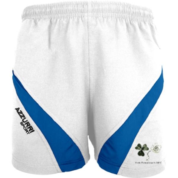 Picture of York Eireannach  Gym Shorts White-Royal