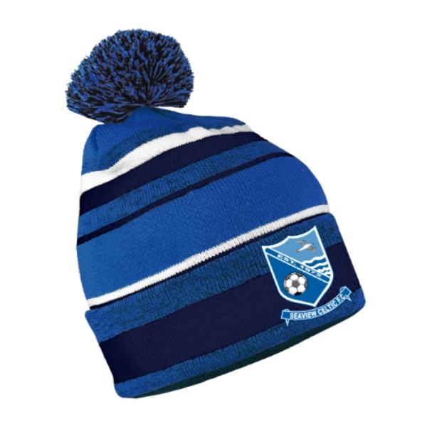 Picture of Seaview Celtic FC Bobble Hat Royal Melange-Navy-White