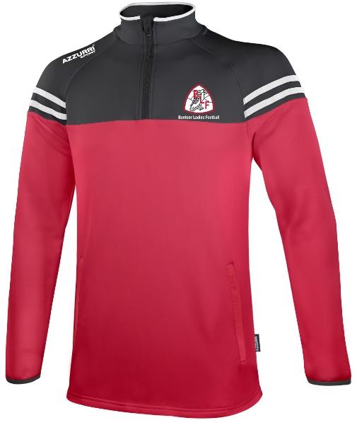 Picture of Banteer LGFA Skryne Half Zip Red-Black-White