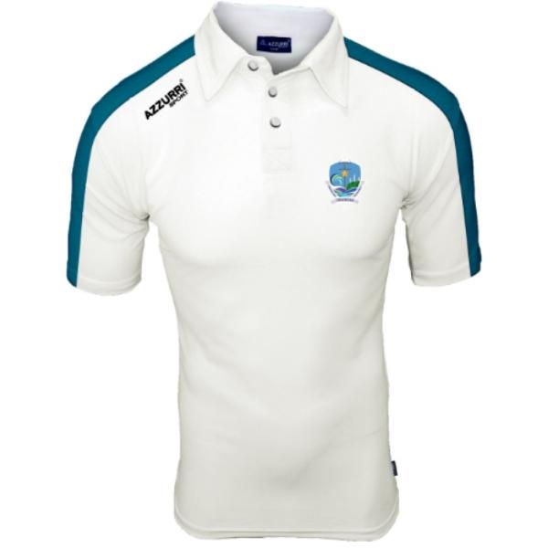 Picture of Ard Scoil na Mara Polo Shirt White-Petrol Blue