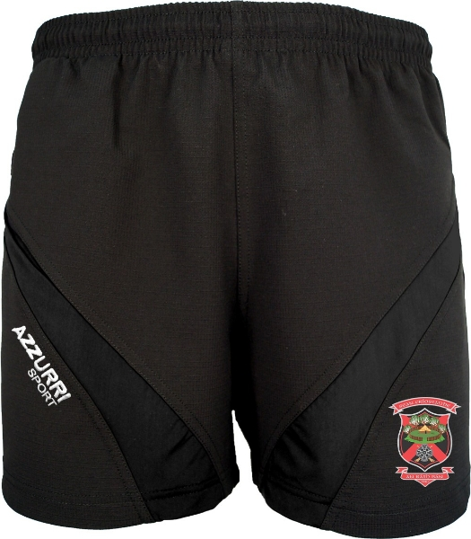 Picture of OLD CHRISTIANS GYM SHORTS Black-Black
