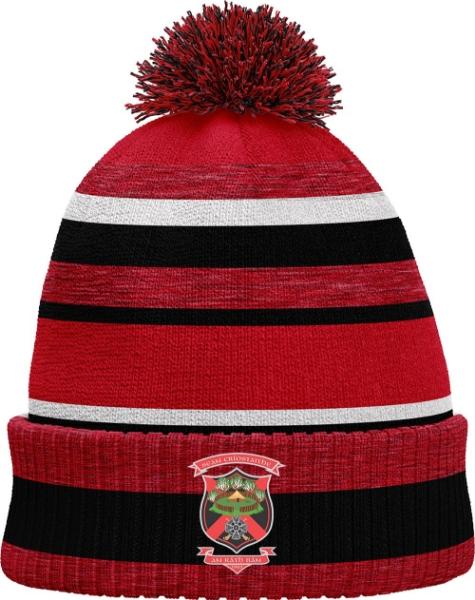 Picture of old christians Bobble Hat Red Melange-Black-White