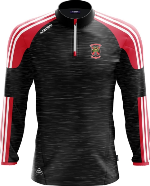 Picture of old Christians Brooklyn Half Zip Black Melange-Red-White