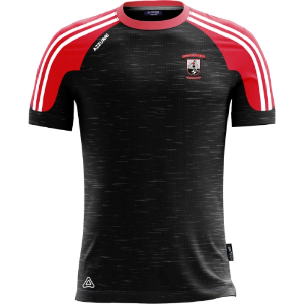 Picture of abbeyside afc kids tee Black-Melange-Red-White