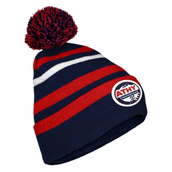 Picture of athy triathlon Bobble Hat Navy-Red-White