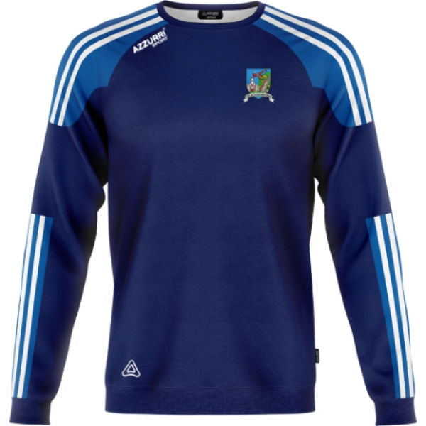 Picture of tallow camogie kids crew neck Navy-Royal-White