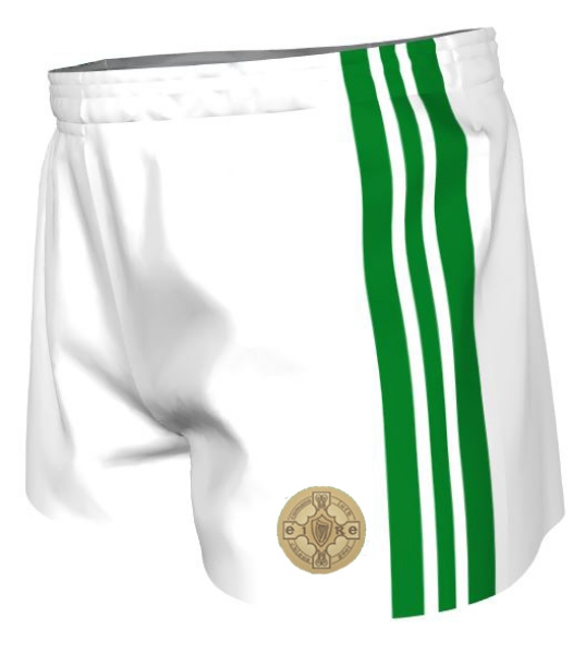 Picture of Sam maguires GAA Shorts White-Emerald