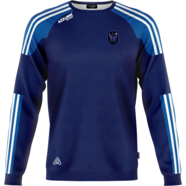 Picture of eli swanderers fc crew neck Navy-Royal-White