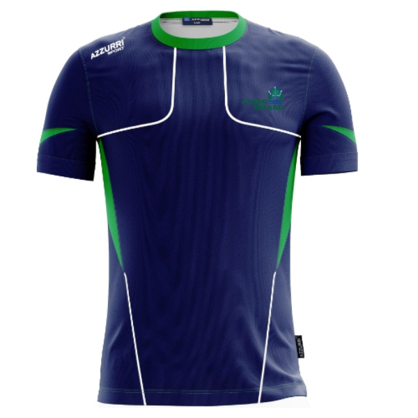 Picture of Diving Ireland Carragh t-shirt Navy-Emerald-White