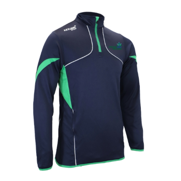 Picture of Diving Ireland Carragh Half Zip Navy-Emerald-White