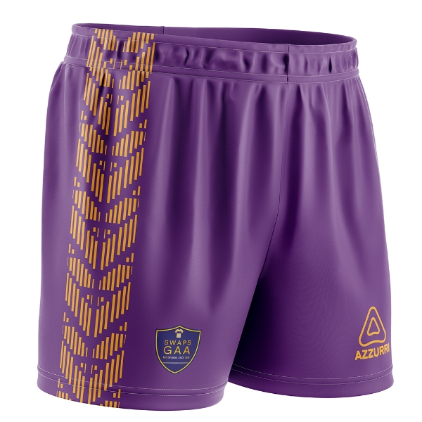 Picture of Swaps GAA kids shorts Purple-Gold