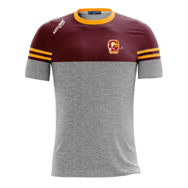Picture of southern gales kids t-shirt Grey Melange-Maroon-Gold