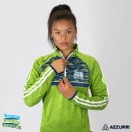 Picture of Healthy Clubs Half Zip Greenery Melange-Marine Navy-White-Bottle Green
