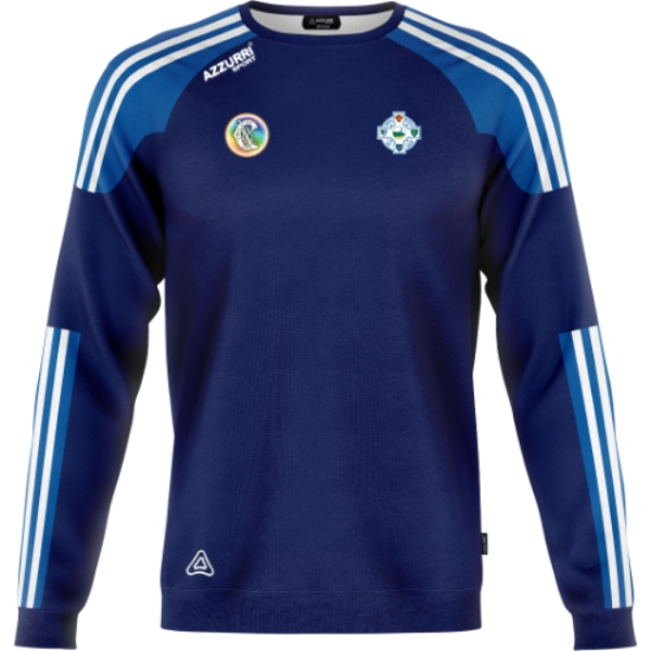 Picture of tramore camogie kids crew neck Navy-Royal-White