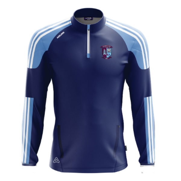 Picture of Youghal utd afc half zip Navy-Sky-White