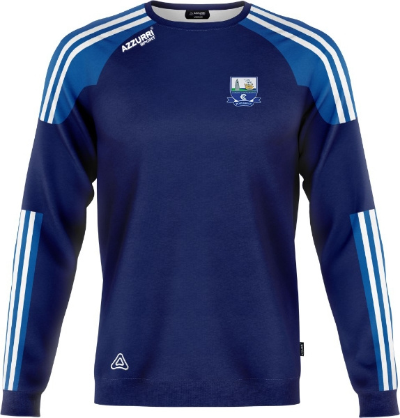 Picture of waterford camogie kids crew neck Navy-Royal-White