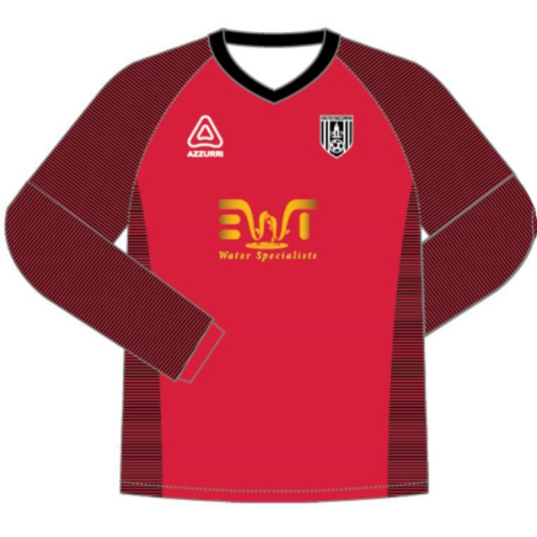 Picture of Dunmore town fc kids golaie jersey Red-Black