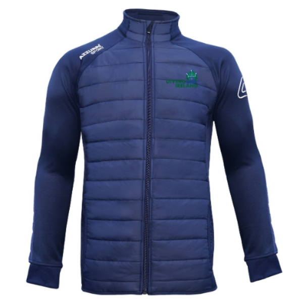 Picture of diving ireland kids padded jacket Navy-Navy