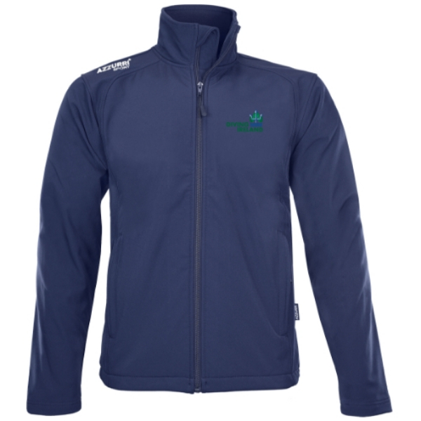Picture of diving ireland shell fleece jacket kids Navy
