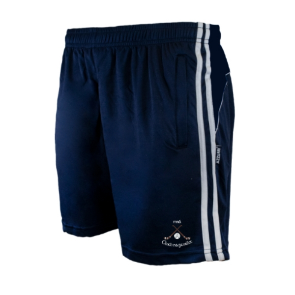 Picture of CLONAKILTY LGFA LEISURE SHORTS Navy-Navy-White