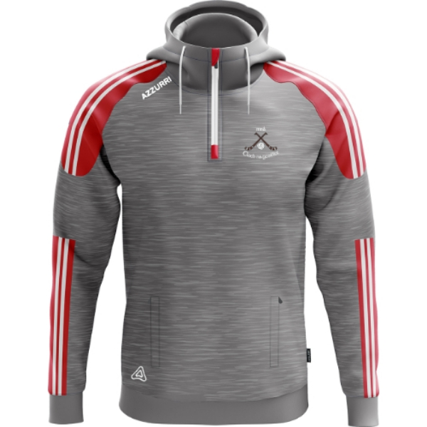 Picture of clonakilty LGFA kids hoodie Grey Melange-Red-White